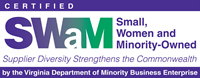 Small Women and Minority Business Logo
